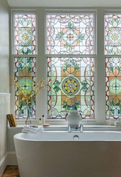Comfy Stained Glass Window Design Ideas For Home 23