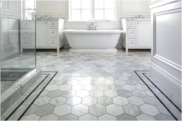 Cool Tile Pattern Design Ideas For Bathroom 10