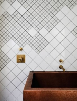 Cool Tile Pattern Design Ideas For Bathroom 26