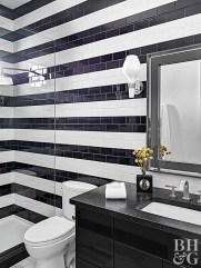Cool Tile Pattern Design Ideas For Bathroom 28