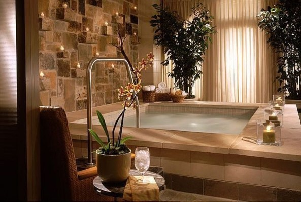 Cozy Spa Bathroom Decorating Ideas 20
