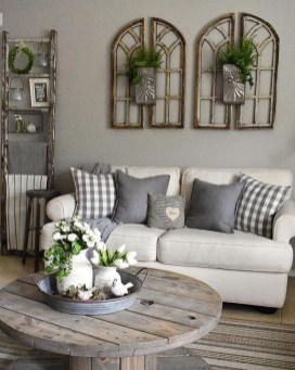 Gorgeous Farmhouse Living Room Design Ideas 11