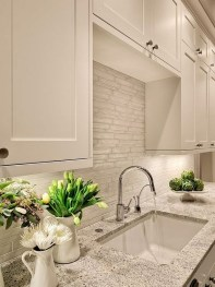 Lovely White Backsplash Design And Decor Ideas For Kitchen 01