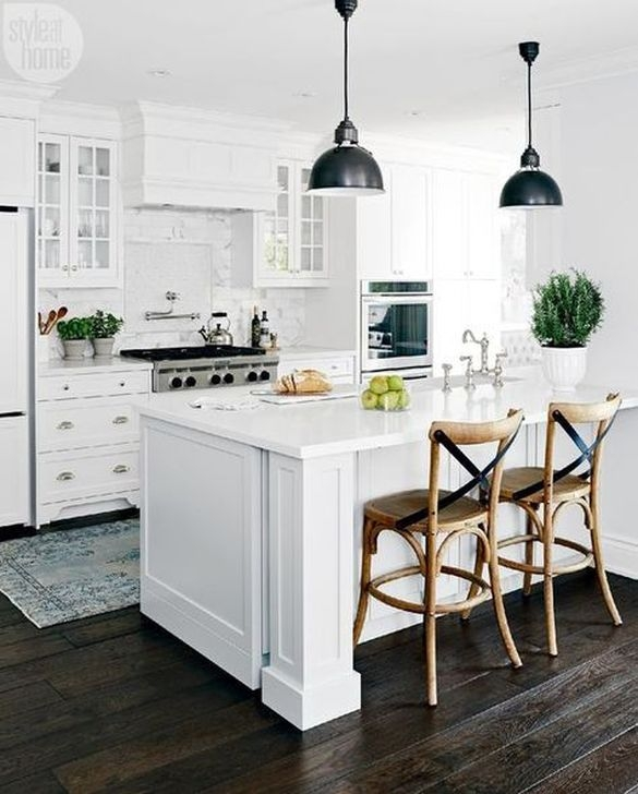 Stylish White Kitchen Design Ideas 07