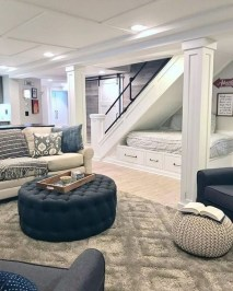 Wonderful Basement Remodel Ideas Into An Attractive Living Room 13