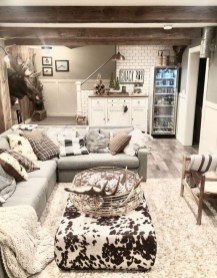 Wonderful Basement Remodel Ideas Into An Attractive Living Room 30