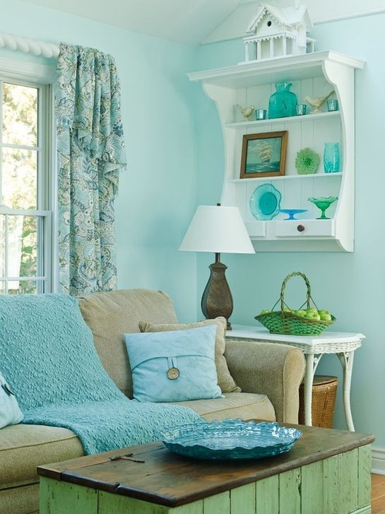 Enchanting Turquoise Living Room Ideas 04