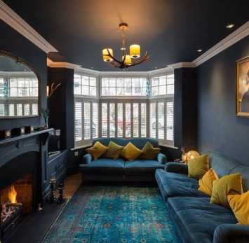 Enchanting Turquoise Living Room Ideas 35