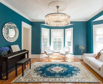 Enchanting Turquoise Living Room Ideas 45