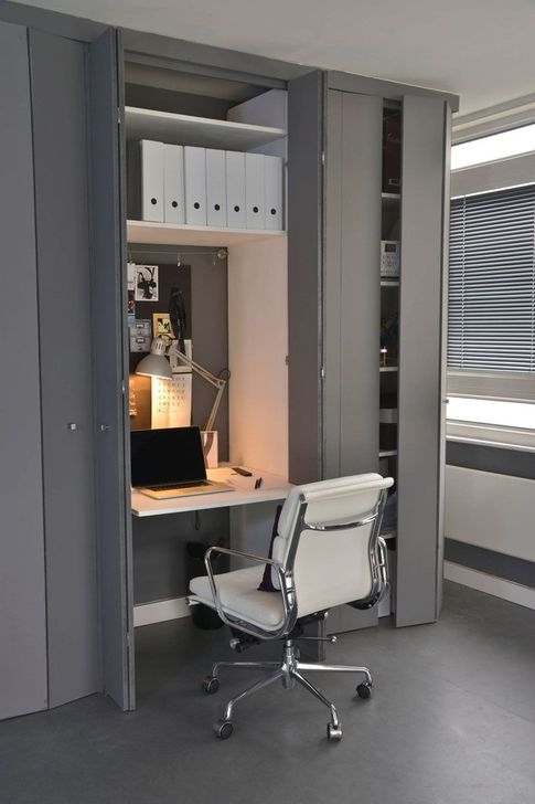 Minimalist Small Space Ideas For Bedroom And Home Office 09