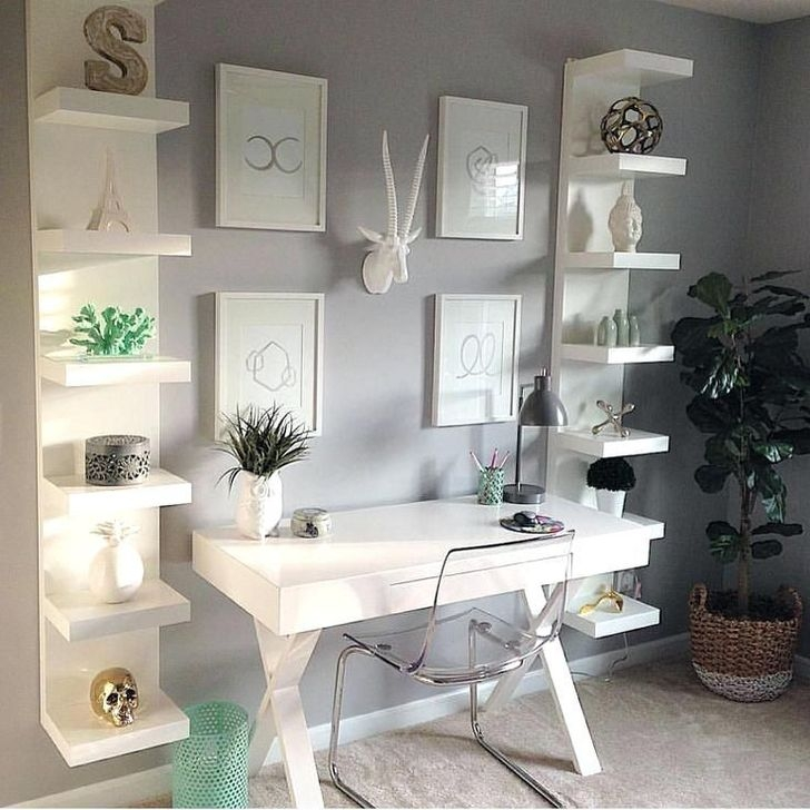 Minimalist Small Space Ideas For Bedroom And Home Office 24