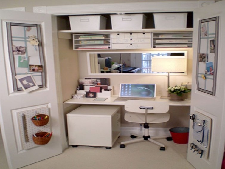Minimalist Small Space Ideas For Bedroom And Home Office 32