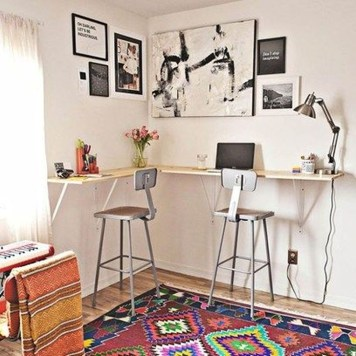 Minimalist Small Space Ideas For Bedroom And Home Office 36