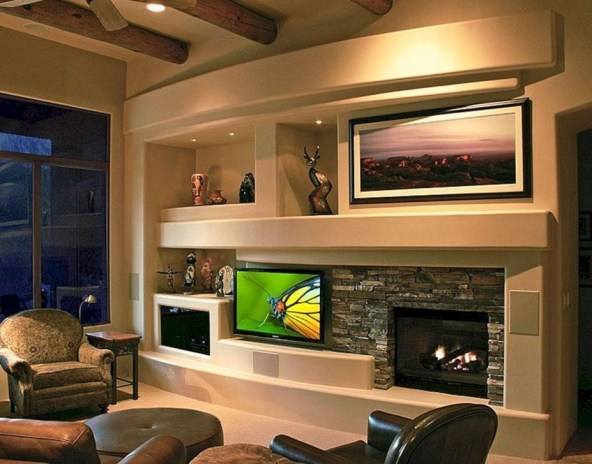 Rustic Home Entertainment Centers Ideas 22