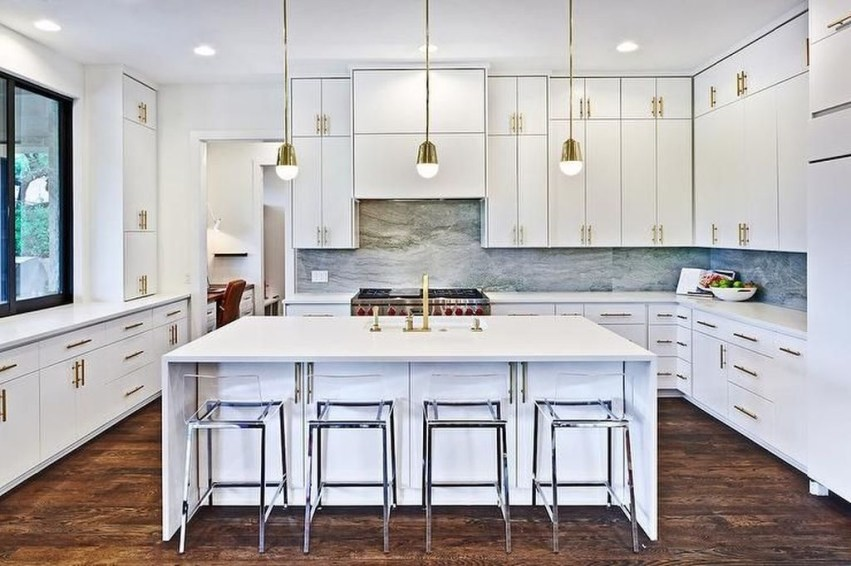 Awesome White And Clear Kitchen Design Ideas 01
