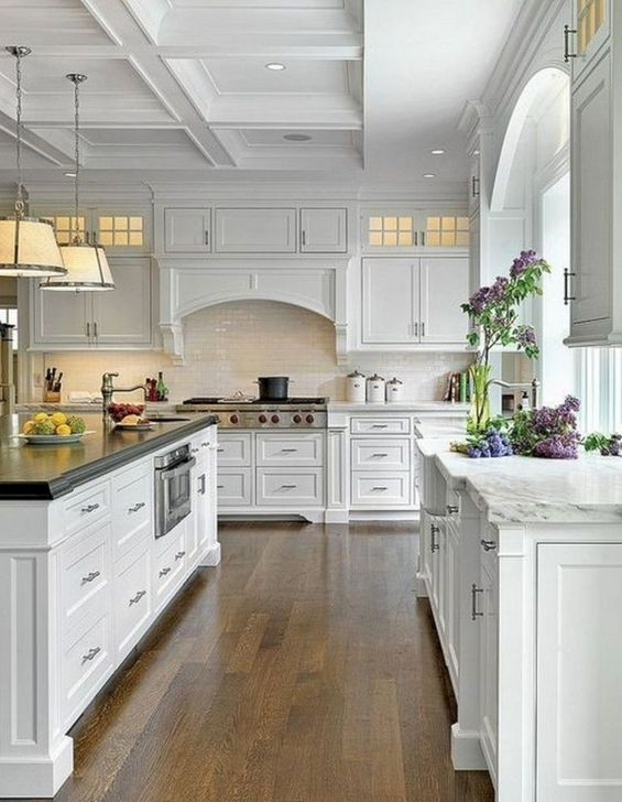 Awesome White And Clear Kitchen Design Ideas 05