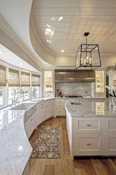 Awesome White And Clear Kitchen Design Ideas 07