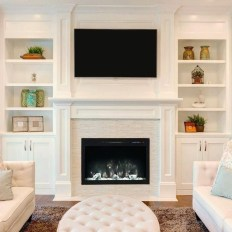 Comfy Living Room Decoration Ideas With Fireplace 05