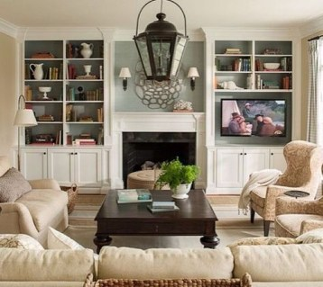 Comfy Living Room Decoration Ideas With Fireplace 07