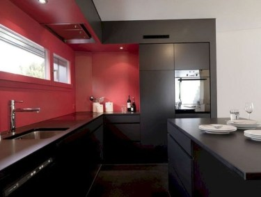 Cozy Red Kitchen Wall Decoration Ideas For You 10