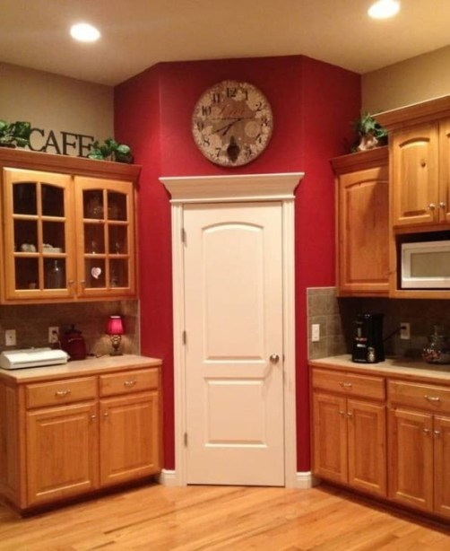 Cozy Red Kitchen Wall Decoration Ideas For You 15