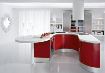 Cozy Red Kitchen Wall Decoration Ideas For You 19