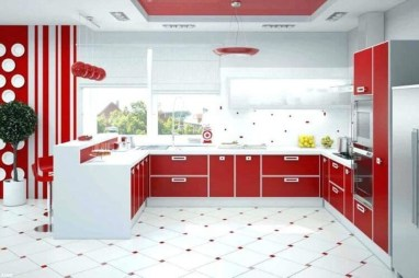 Cozy Red Kitchen Wall Decoration Ideas For You 20
