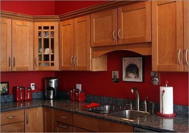 Cozy Red Kitchen Wall Decoration Ideas For You 29