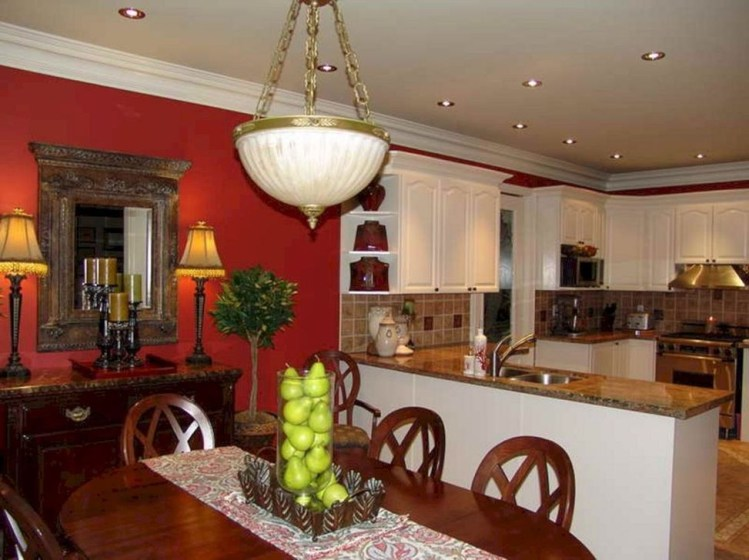 Cozy Red Kitchen Wall Decoration Ideas For You 31