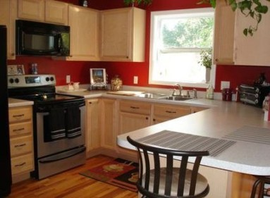 Cozy Red Kitchen Wall Decoration Ideas For You 33