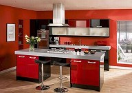 Cozy Red Kitchen Wall Decoration Ideas For You 35