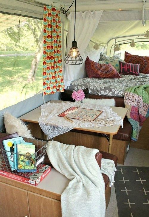 Popular Rv And Camper Hack Decoration Ideas For Family 42