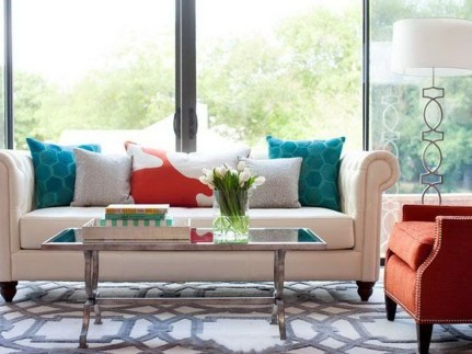 Relaxing Living Room Design Ideas With Orange Color Themes 01