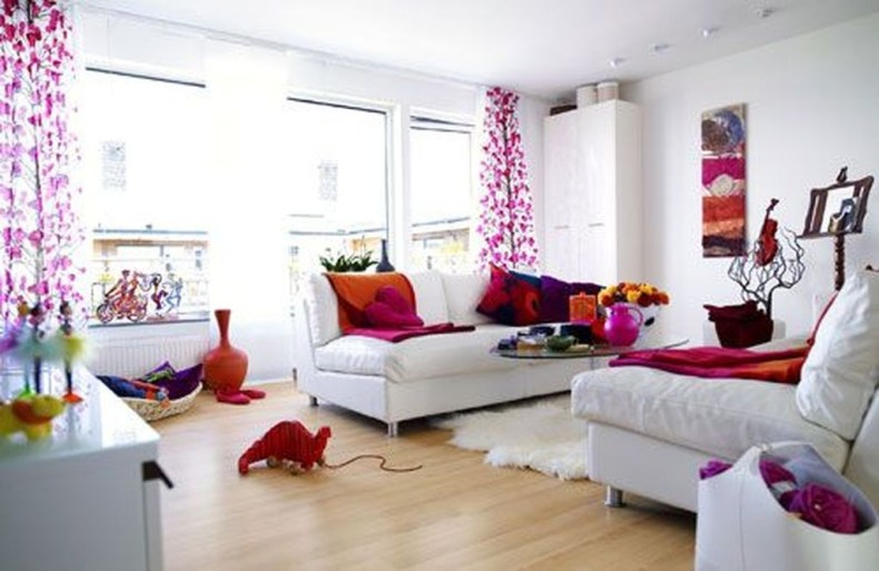 Relaxing Living Room Design Ideas With Orange Color Themes 25