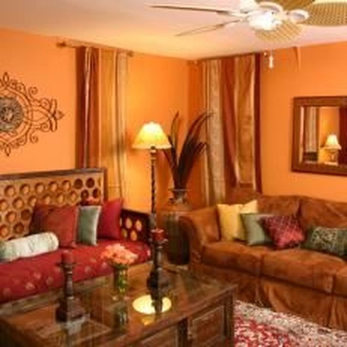 Relaxing Living Room Design Ideas With Orange Color Themes 37