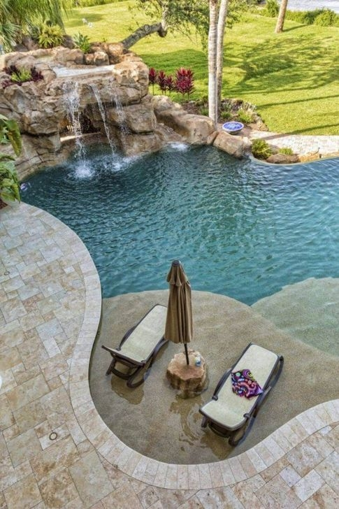 Comfy Backyard Designs Ideas With Swimming Pool Looks Cool 32