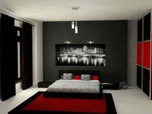 Comfy Red Bedroom Decorating Ideas For You 05
