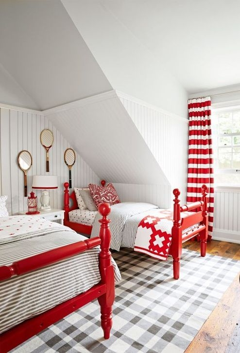 Comfy Red Bedroom Decorating Ideas For You 33