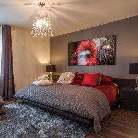 Comfy Red Bedroom Decorating Ideas For You 35