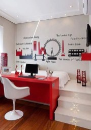 Comfy Red Bedroom Decorating Ideas For You 39