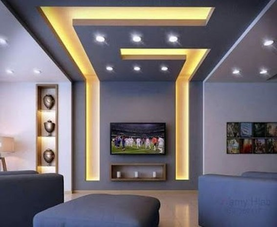 Cool Ceilings Lighting Design Ideas For Living Room To Try 28
