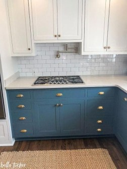 Fancy Painted Kitchen Cabinets Design Ideas With Two Tone 01