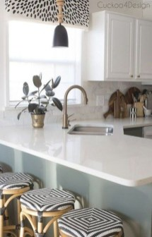 Fancy Painted Kitchen Cabinets Design Ideas With Two Tone 03