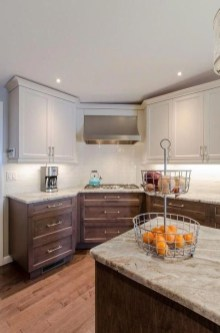 Fancy Painted Kitchen Cabinets Design Ideas With Two Tone 06
