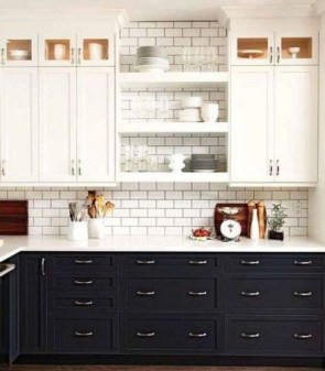Fancy Painted Kitchen Cabinets Design Ideas With Two Tone 09