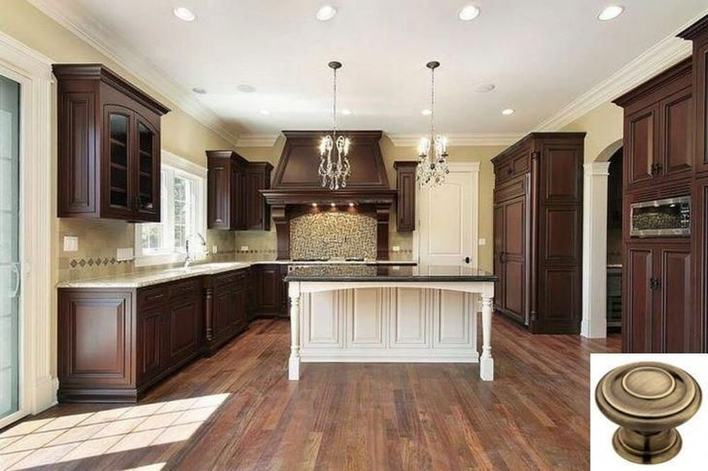 Fancy Painted Kitchen Cabinets Design Ideas With Two Tone 10