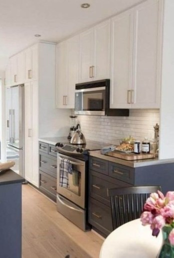 Fancy Painted Kitchen Cabinets Design Ideas With Two Tone 20