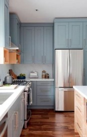 Fancy Painted Kitchen Cabinets Design Ideas With Two Tone 28