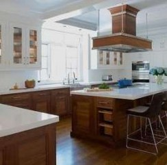 Fancy Painted Kitchen Cabinets Design Ideas With Two Tone 33