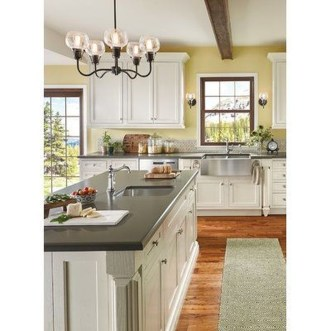 Fancy Painted Kitchen Cabinets Design Ideas With Two Tone 37